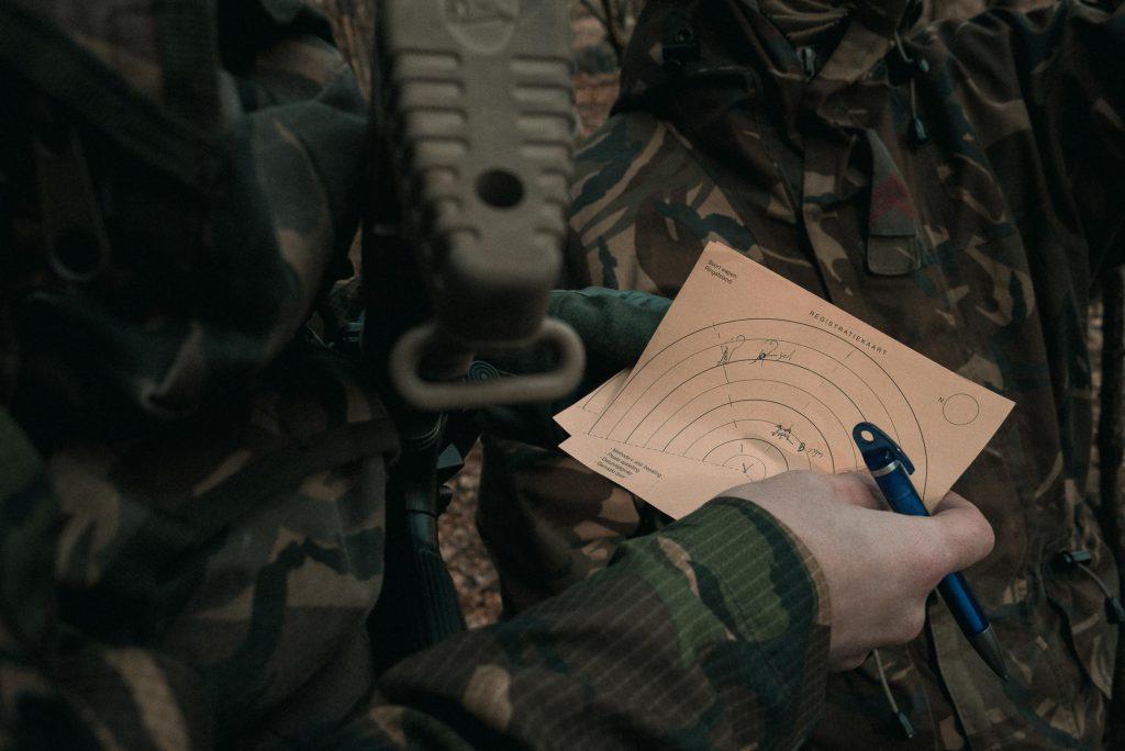 Fotoreportage Landmacht Reservisten - Navigeren en spotten