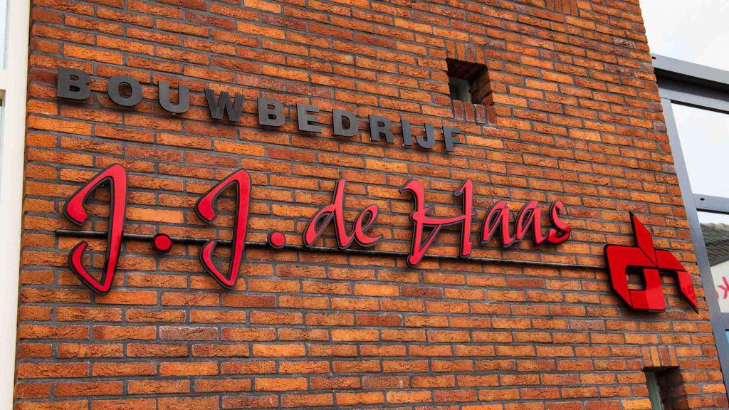 Bouwbedrijf J.J de Haas Logo