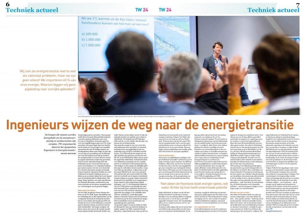 Spread publicatie - Fotoreportage - Technisch Weekblad